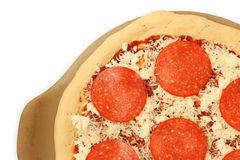 Ongekookte Pepperonispizza 2 Royalty-vrije Stock Afbeelding