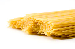Ongekookte Spaghetti royalty-vrije stock afbeelding