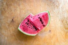 Ongelijk watermeloenstuk Stock Fotografie
