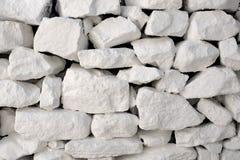 Ongelijke Witte Steenmuur Stock Foto's