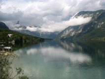 ongelooflijk Bohinj-meer in Slovenië Royalty-vrije Stock Fotografie