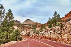 Ongelooflijk mooi landschap in Zion National Park, Washington County, Utah, de V.S. Stock Afbeeldingen