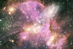 Ongelooflijk mooie melkweg ergens in diepe ruimte Science fictionbehang royalty-vrije stock afbeelding