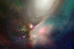 Ongelooflijk mooie melkweg ergens in diepe ruimte Science fictionbehang stock illustratie