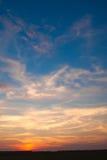 Ongelooflijk mooie zonsondergang, wolken bij zonsondergang, kleurrijke zonsondergang Royalty-vrije Stock Afbeelding