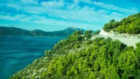 Ongelooflijke Kustlijn bij het Adriatische Overzees in Kroatië royalty-vrije stock afbeeldingen