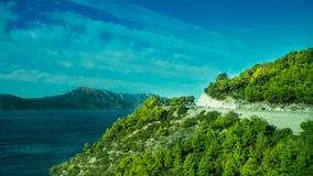 Ongelooflijke Kustlijn bij het Adriatische Overzees in Kroatië royalty-vrije stock foto