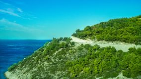 Ongelooflijke Kustlijn bij het Adriatische Overzees in Kroatië royalty-vrije stock foto's