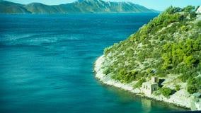 Ongelooflijke Kustlijn bij het Adriatische Overzees in Kroatië stock fotografie