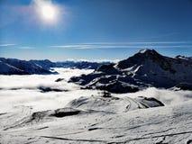 Ongelooflijke Moutain-Weergeven Franse Alpen stock afbeeldingen