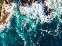 Ongelooflijke vogelmening van Atlantische kust in Tenerife stock fotografie