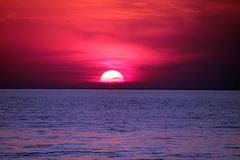 Ongelooflijke zonsondergang stock fotografie