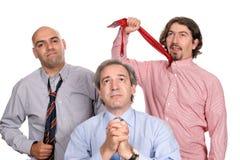 Ongelukkig commercieel team Stock Foto's