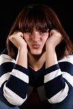 Ongelukkig jong meisje stock fotografie