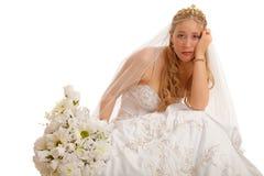 Ongelukkige bruid royalty-vrije stock afbeeldingen