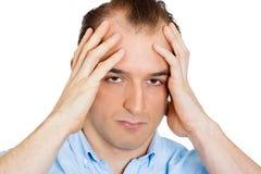 Ongelukkige gedeprimeerde mens Stock Foto's