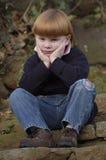 Ongelukkige jonge jongen Stock Foto's
