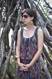 Ongelukkige jonge vrouw Royalty-vrije Stock Afbeeldingen