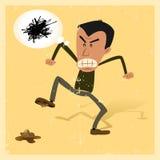 Ongelukkige Mens vector illustratie
