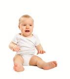 Ongelukkige oude baby van één jaar Stock Fotografie