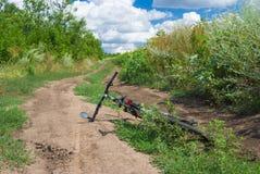Ongelukkige reis voor een fiets Stock Foto