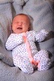 Ongelukkige Schreeuwende Nieuwe Baby Royalty-vrije Stock Foto