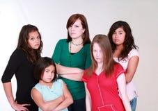 Ongelukkige tienermeisjes Stock Afbeeldingen