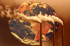Ongelukkige Toekomst van de Wereld Stock Afbeeldingen