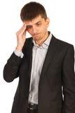 Ongelukkige uitvoerende mens Stock Foto