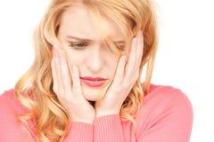 Ongelukkige vrouw Stock Fotografie