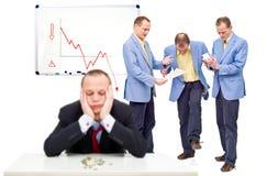 Ongelukkige werknemers Royalty-vrije Stock Foto