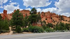 Ongeluksboden bij Rode Canion enkel buiten Bryce Canyon Utah stock foto