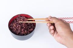 Ongepelde rijst in de kom Royalty-vrije Stock Afbeelding