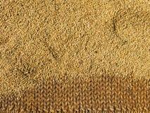 Ongepelde rijst het drogen Stock Afbeeldingen