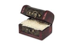 Ongepelde rijst Het heeft een mild nootachtig aroma, is taaier en voedzamer dan witte rijst Royalty-vrije Stock Fotografie