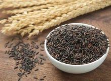 Ongepelde rijst in kom Royalty-vrije Stock Afbeelding
