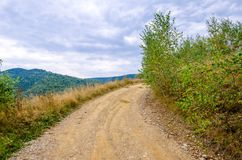 Ongeplaveide landelijke weg Royalty-vrije Stock Foto
