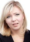 Ongerust gemaakt blonde meisje Stock Afbeelding