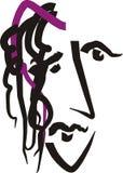 Ongerust gemaakt gezicht Vector Illustratie