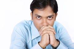 Ongerust gemaakte Indische Zakenman Royalty-vrije Stock Afbeeldingen