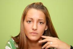Ongerust gemaakte tiener Stock Foto