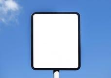 Ongeschreven teken in de zonnige dag Royalty-vrije Stock Afbeelding