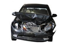 Ongeval beschadigde auto Stock Foto