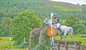Ongeval bij de Internationale Proeven 2011 van het Paard. Royalty-vrije Stock Fotografie