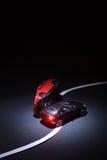 Ongeval met twee stuk speelgoed auto's Royalty-vrije Stock Afbeeldingen