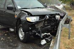 Ongeval op de weg Stock Fotografie