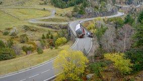 ongeval tussen een bus en een auto royalty-vrije stock foto's