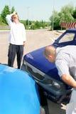 Ongeval twee auto's stock afbeeldingen