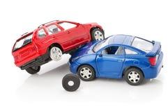 Ongeval twee auto's, verzekeringsgeval stock fotografie