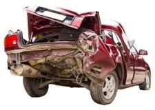 Ongeval van de billen het rode auto royalty-vrije stock afbeeldingen